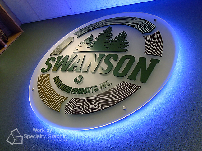 Swanson Bark office sign